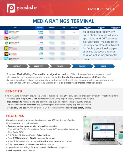 Mediat Ratings Terminal Product Sheet